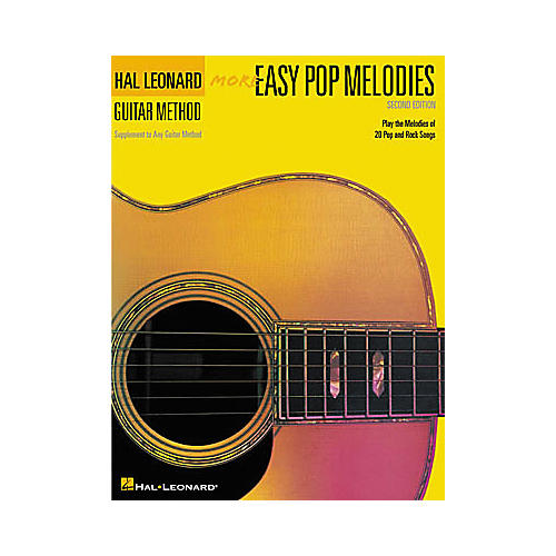 Hal Leonard More Easy Pop Melodies - 2nd Edition Guitar Method Book
