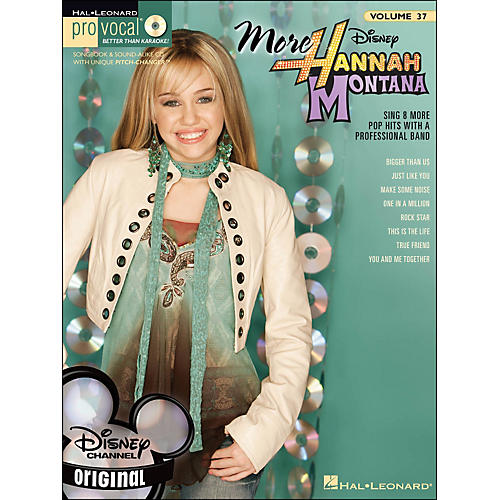Hal Leonard More Hannah Montana - Pro Vocal Songbook for Female Singers Volume 37 Book/CD