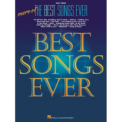 Hal Leonard More Of The Best Songs Ever For Easy Piano