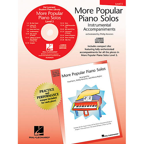 Hal Leonard More Popular Piano Solos - Level 5 - CD Piano Library Series CD by Various