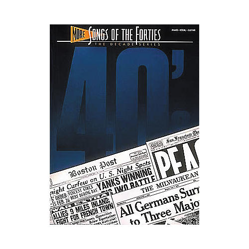 Hal Leonard More Songs Of The 40's Songbook