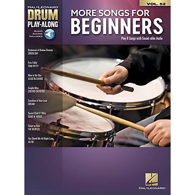 Hal Leonard More Songs for Beginners Drum Play-Along Book/Audio Online