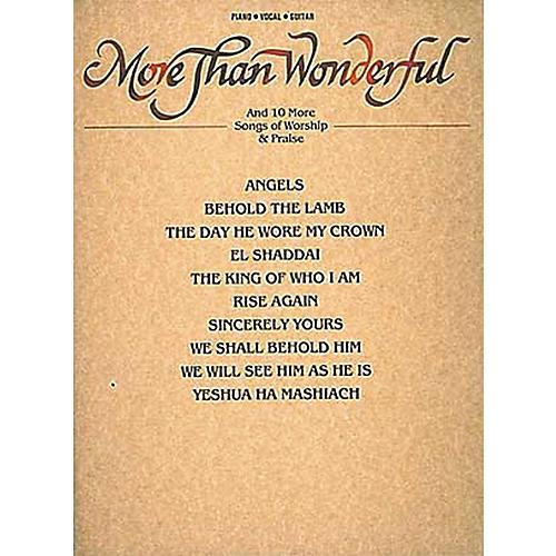 Hal Leonard More Than Wonderful & Ten Songs Of Worship & Praise Piano, Vocal, Guitar Songbook