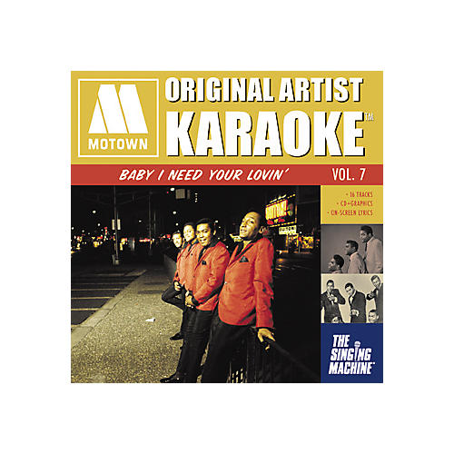 The Singing Machine Motown Baby I Need Your Lovin' Karaoke CD+G