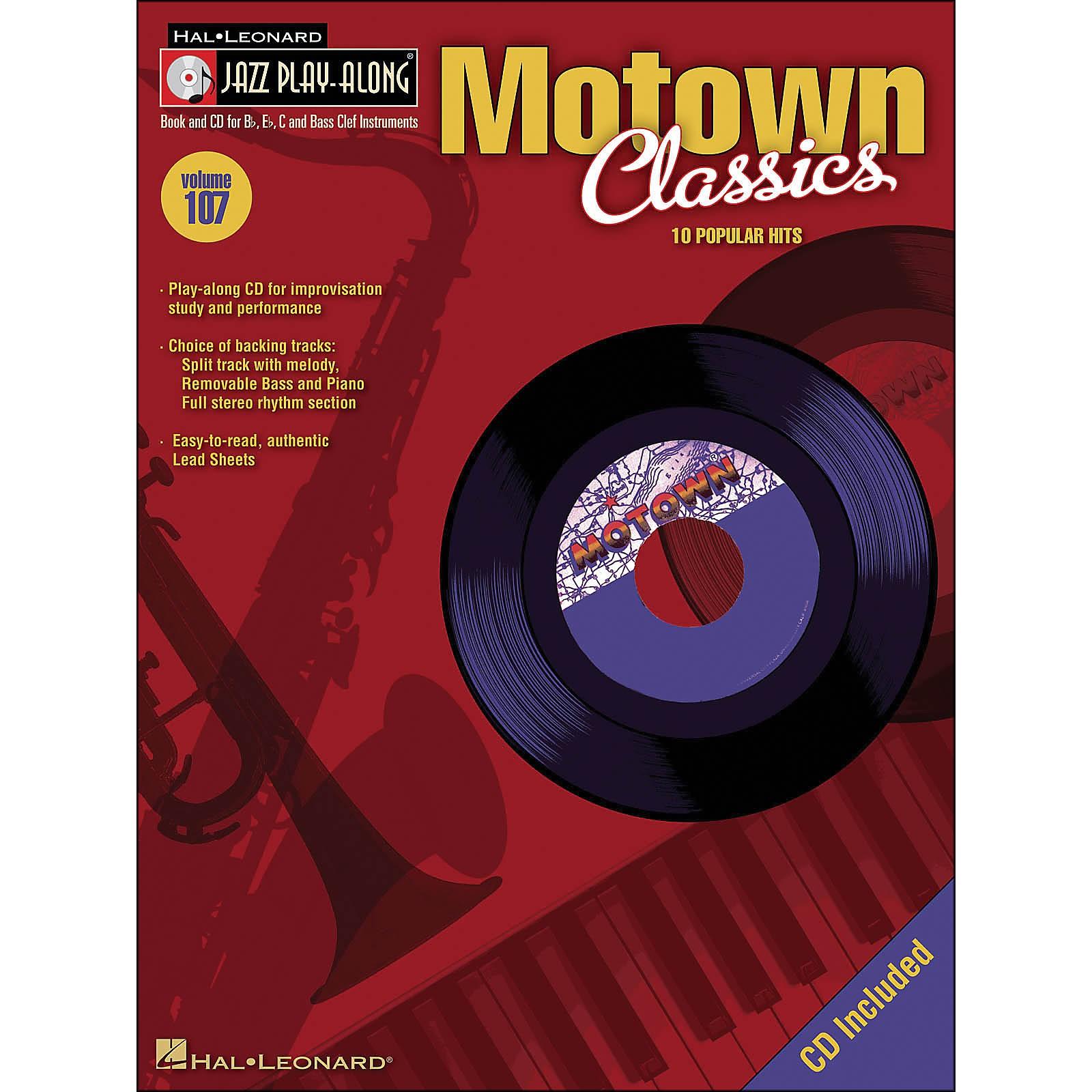 Hal Leonard Motown Classics - Jazz Play-Along Volume 107 (CD/Pkg)