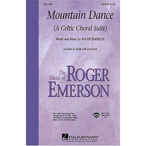 Hal Leonard Mountain Dance (A Celtic Choral Suite) SATB composed by Roger Emerson
