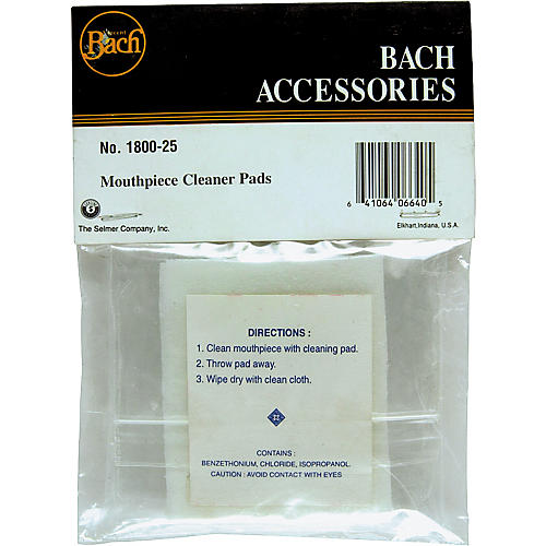Bach Mouthpiece Cleaning Pads