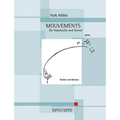Hal Leonard Mouvement (movement) Cell And Piano Score & Parts Boosey & Hawkes Chamber Music Series Softcover