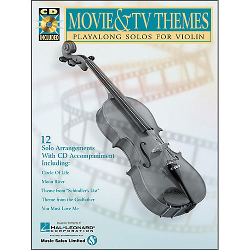 Hal Leonard Movie And TV Themes Playalong Solos for Violin Book/CD Pkg
