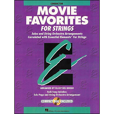 Hal Leonard Movie Favorites Conductor Essential Elements Strings CD/Pkg