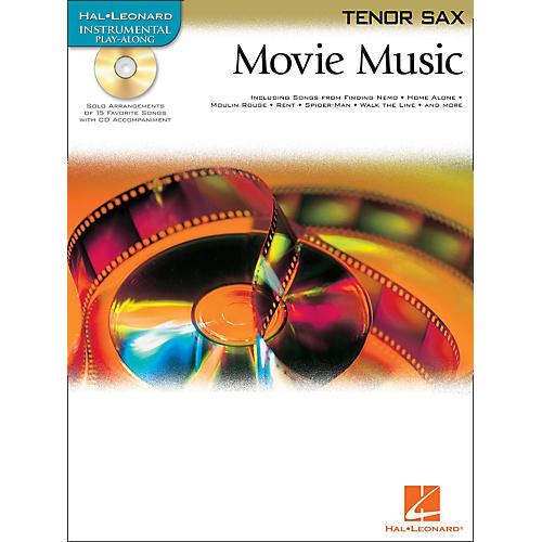 Hal Leonard Movie Music for Tenor Sax Book/CD