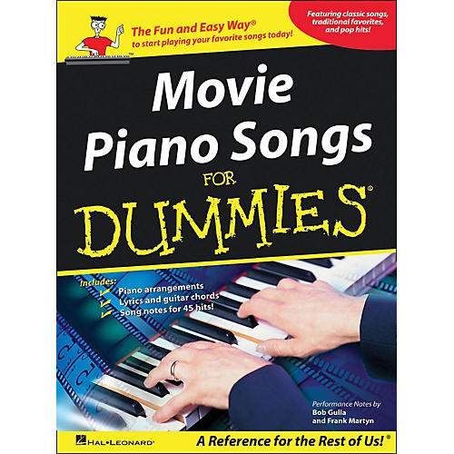 Hal Leonard Movie Piano Songs for Dummies arranged for piano, vocal, and guitar (P/V/G)