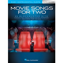 Hal Leonard Movie Songs for Two Alto Saxes (Easy Instrumental Duets) Easy Instrumental Duets Series Softcover