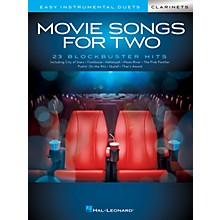 Hal Leonard Movie Songs for Two Clarinets - Easy Instrumental Duets