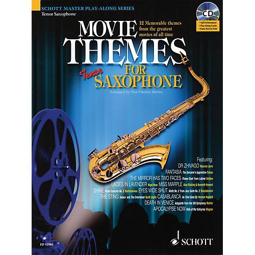 Schott Movie Themes for Tenor Saxophone Instrumental Play-Along Series