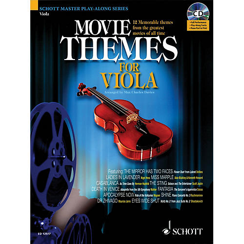 Schott Movie Themes for Viola Instrumental Play-Along Series