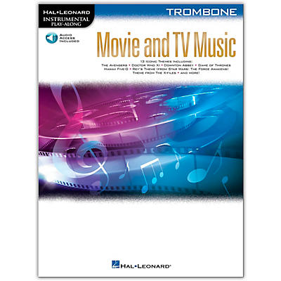 Hal Leonard Movie and TV Music for Trombone Instrumental Play-Along Book/Audio Online
