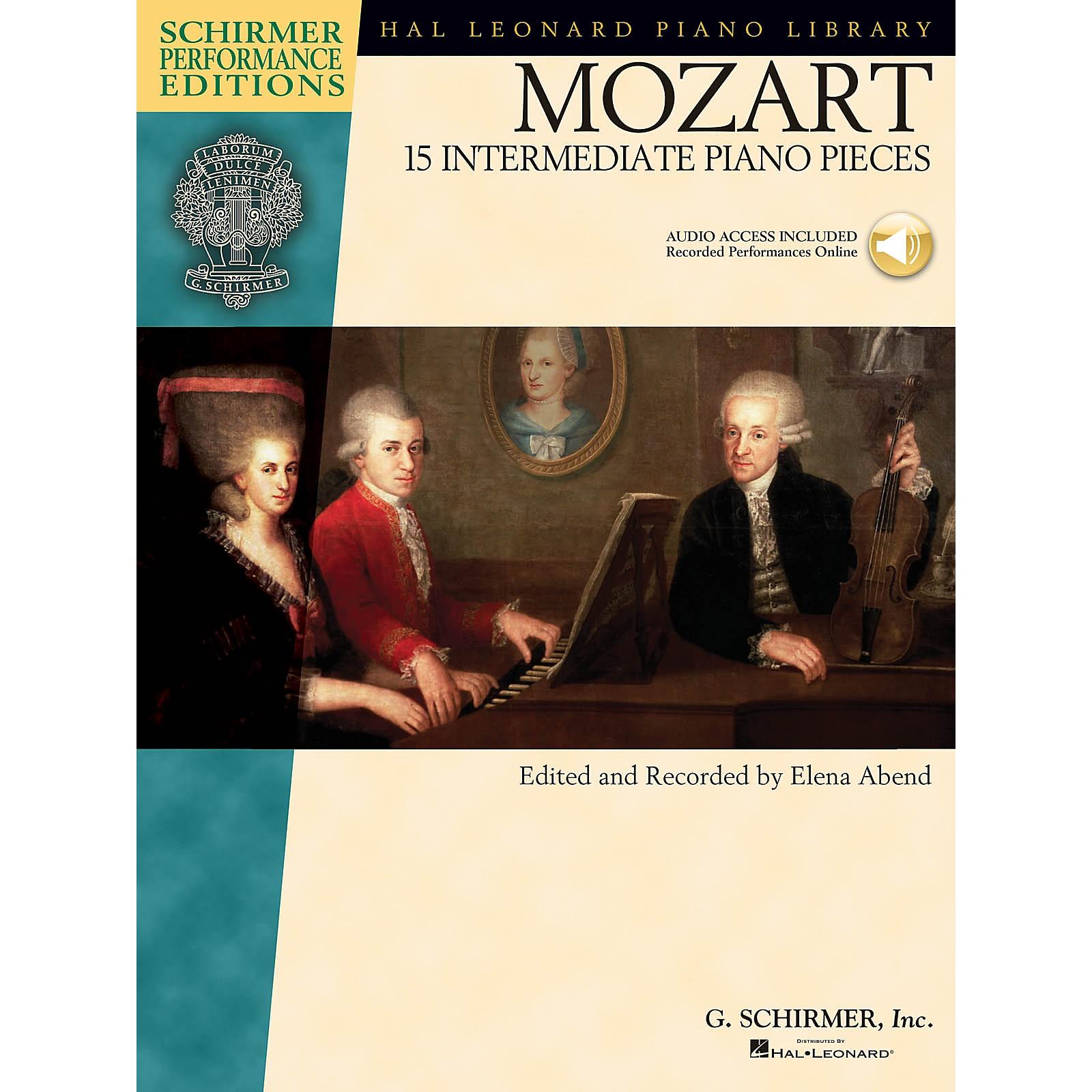 G. Schirmer Mozart - 15 Intermediate Piano Pieces Schirmer Performance Editions Book/Audio Online (Intermediate)