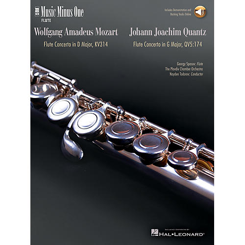 Music Minus One Mozart - Flute Concerto No. 2 in D Maj K. 314; Quantz - Flute Concerto in G Maj Music Minus One BK/CD