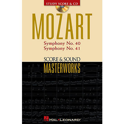 Hal Leonard Mozart - Symphony No. 40 in G Minor/Symphony No. 41 in C Major Study Score with CD by Mozart