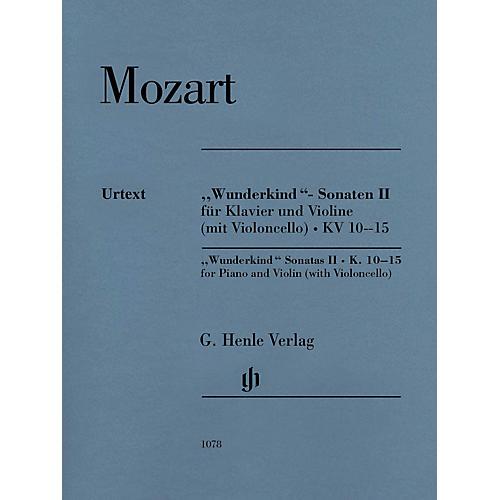 G. Henle Verlag Mozart - Wunderkind Sonatas, Vol 2, K. 10-15 Henle Music by Mozart Edited by Wolf-Dieter Seiffert