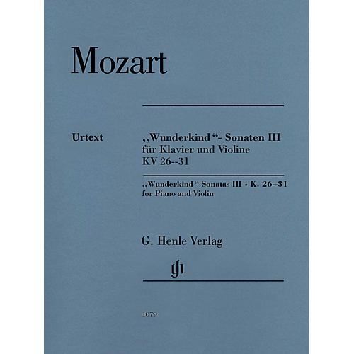 G. Henle Verlag Mozart - Wunderkind Sonatas, Volume 3, K. 26-31 Henle Music Softcover Edited by Wolf-Dieter Seiffert