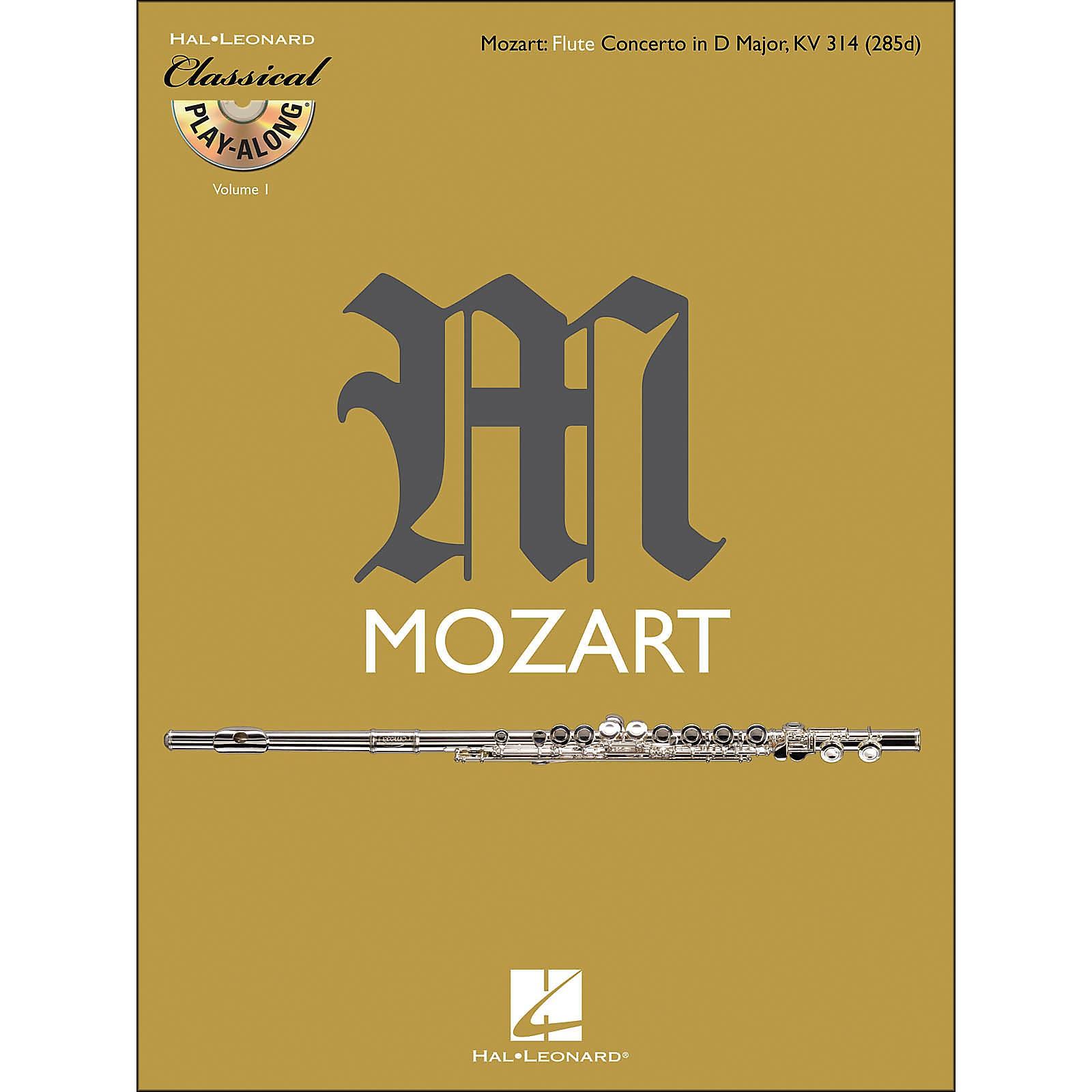 Hal Leonard Mozart: Flute Concerto In D M Ajor, Kv 314 Classical Play-Along Book/CD Vol.1