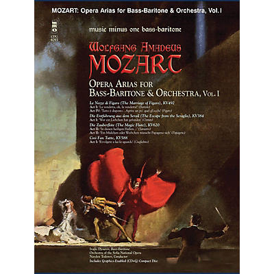 Music Minus One Mozart Opera Arias for Bass Baritone and Orchestra - Vol. I Music Minus One Softcover with CD by Mozart