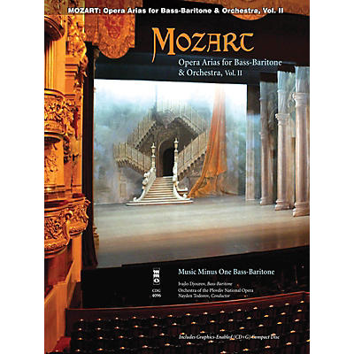 Music Minus One Mozart Opera Arias for Bass Baritone and Orchestra - Vol. II Music Minus One Softcover with CD by Mozart