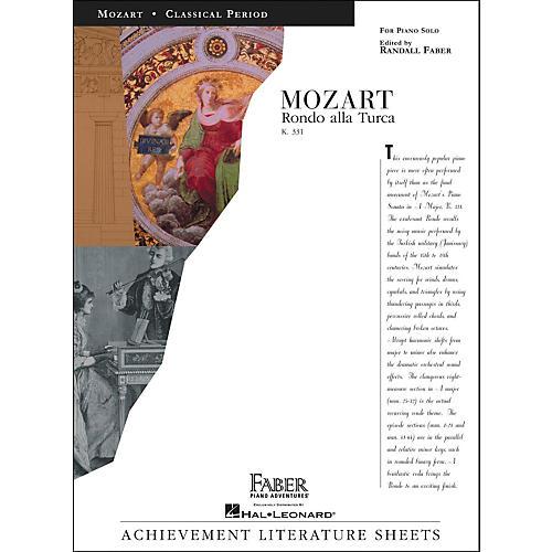 Faber Piano Adventures Mozart Rondo Alla Turca K331 Piano Solo - Faber Piano