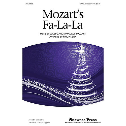 Shawnee Press Mozart's Fa-la-la SATB a cappella arranged by Philip Kern