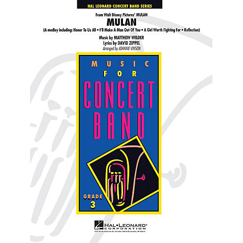 Hal Leonard Mulan - Young Concert Band Series Level 3 arranged by Johnnie Vinson