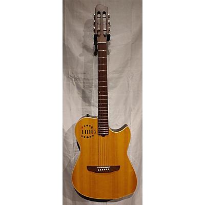 Godin Mulitac Steel Duet Acoustic Electric Guitar