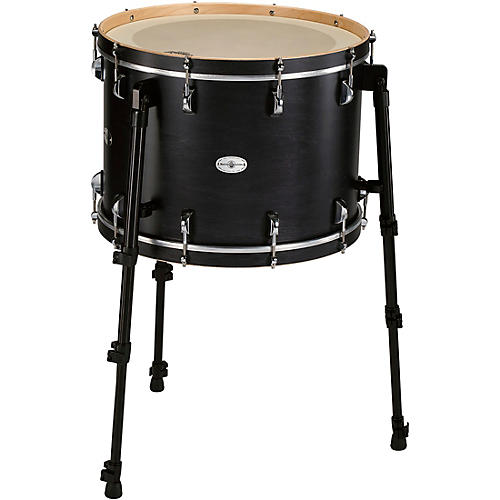 Black Swamp Percussion Multi Bass Drum in Satin Concert Black Stain 20 in.