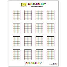 DR Strings Multi-Color Chord Chart