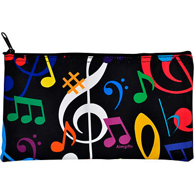 AIM Multi Color Music Note Zipper Pouch