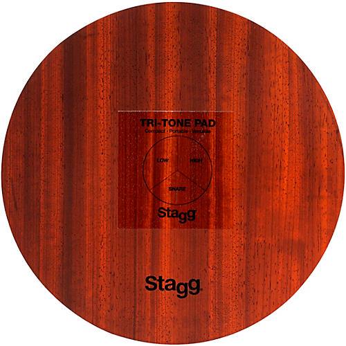 Stagg Multi-Zone Tri-Tone Pad with Bag 12 in. Black/Natural
