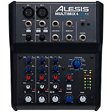 Open BoxAlesis MultiMix 4 USB FX 4-Channel Mixer with Effects & USB Audio Interface