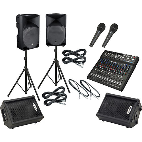 Alesis Multimix 16 USB FX / Thump TH-15A Mains & Monitors Package