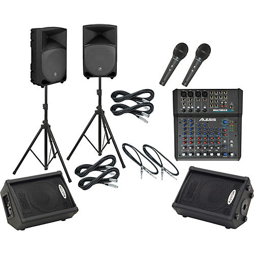 Alesis Multimix 8 USB FX / TH-12A Mains & Monitors Package