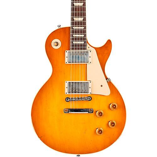 Gibson Custom Murphy Lab 1958 Les Paul Standard Reissue Light Aged Electric Guitar Lemon Burst