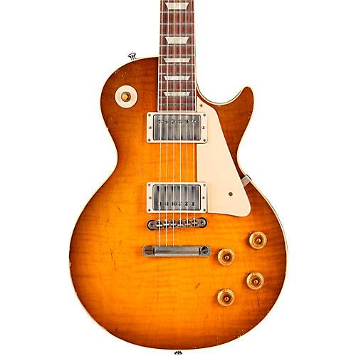 Gibson Custom Murphy Lab 1959 Les Paul Standard Reissue Heavy Aged Electric Guitar Golden Poppy Burst