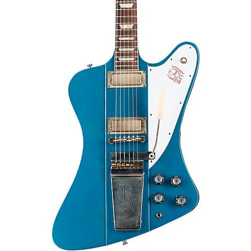 Gibson Custom Murphy Lab 1963 Firebird V w/ Maestro Vibrola Ultra Light Aged Electric Guitar Pelham Blue
