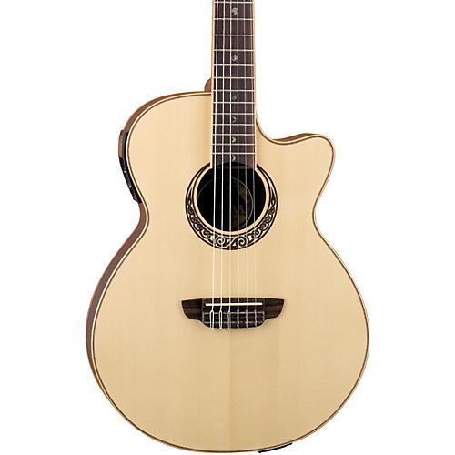 Luna Guitars Muse Series Folk Cutaway Nylon-String Acoustic-Electric Guitar