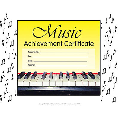 SCHAUM Music Achievement Certificate Educational Piano Series