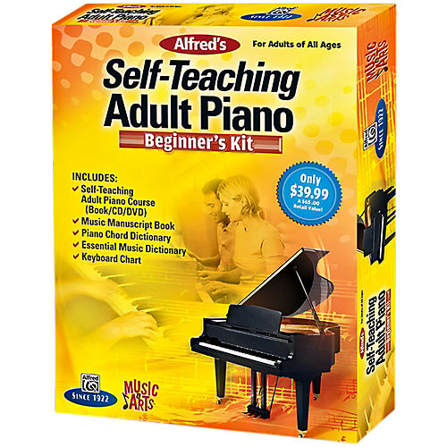 Alfred Music & Arts Self-Teaching Adult Piano Beginner's Kit