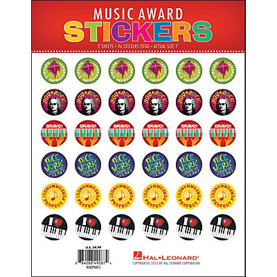 Hal Leonard Music Award Stickers Package