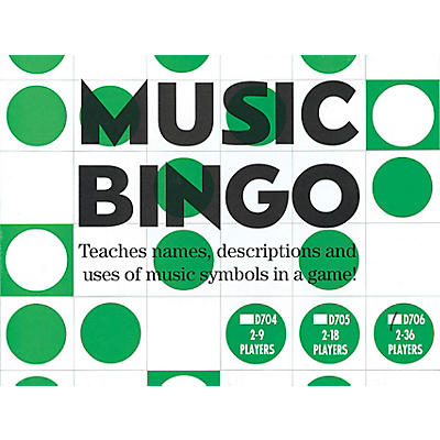 Music Sales Music Bingo (2-36 Players) Music Sales America Series General Merchandise