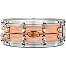 Pearl Music City Custom Solid Shell Snare Ash with Boxwood-Rose Inlay