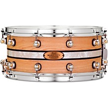 Pearl Music City Custom Solid Shell Snare Ash with DuoBand Ebony Marine Inlay